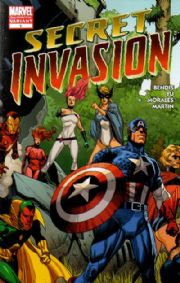 Secret Invasion #1 2nd Second Print Variant Marvel comic book